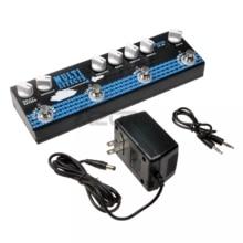 Azor CP 48 Pedal de efecto múltiple para guitarra acústica, accesorios para guitarra, efecto de retardo y reverberación, salida MP3 y XLR