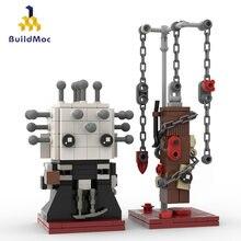 BuildMOC Movie Figures Hellraiser Pinhead bricks headz più carino Cenobite da The gate Of Hell Building Block Collection giocattoli regali