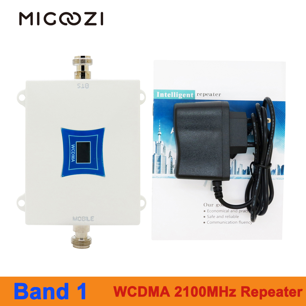 MIGOOZI WCDMA 2100MHz Signal Repeater 2G 3G 4G Mobile Phone LTE Cellular Booster Band 1 W-CDMA Amplifier