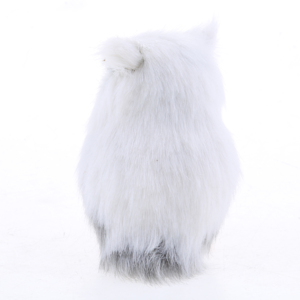 Lovely Simulation Owl Animal Home Decor Simulation Artificial Owl Prop White