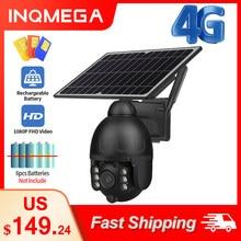 INQMEGA 1080P HD niska moc 4G kamera słoneczna podwójny dźwięk Alarm włamaniowy Panel słoneczny kamera zewnętrzna monitorowanie wodoodporna kamera