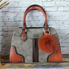 IMYOK Casual Top Maniglia di Cuoio delle Donne Crossbody Bag Vintage Sacchetti di Tote Femminile Con La Sfera di Borsa Delle Signore di Alta Qualità sac a Main
