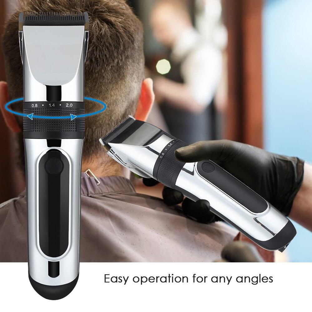 Profissional máquina de cortar cabelo recarregável aparador