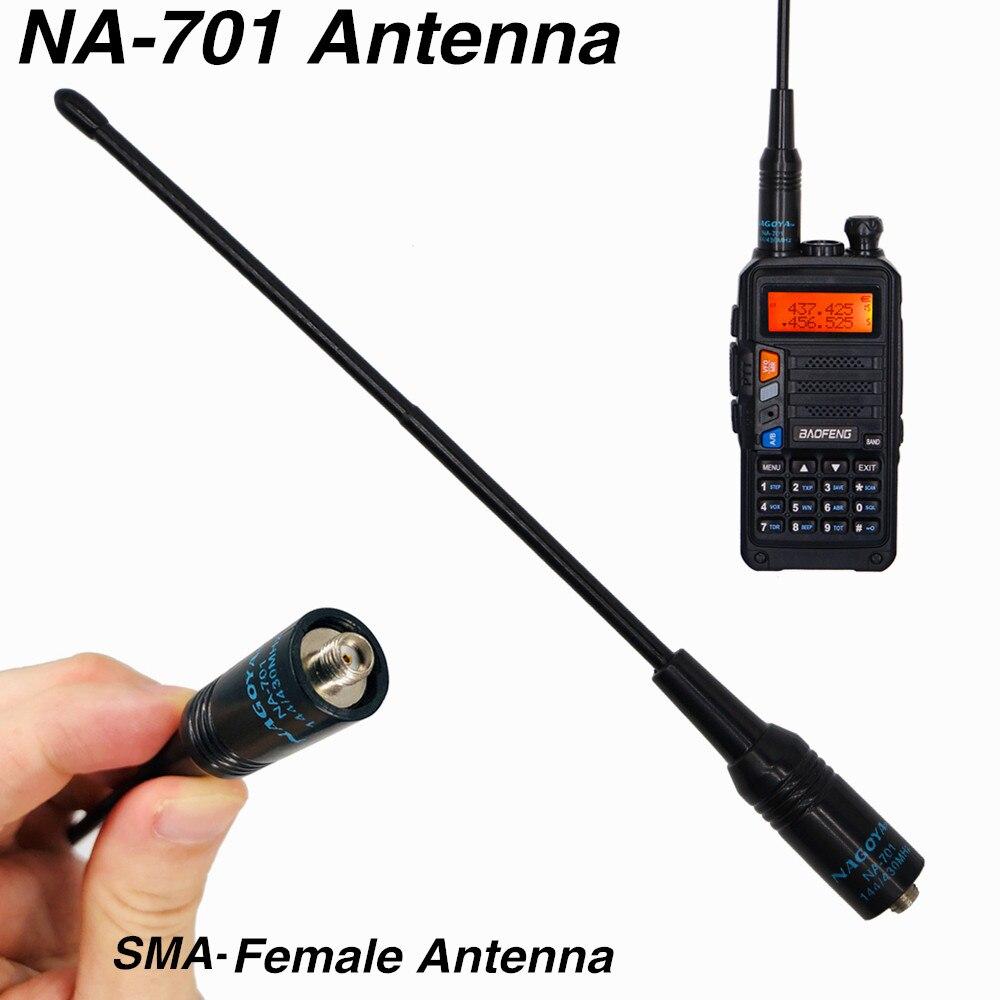 Original NA-701 SMA-F Antenna Dual Band Baofeng UV-9R Plus Antenna UV5R UV82 Two Way Radio Antenna For Kenwood TYT Walkie Talkie