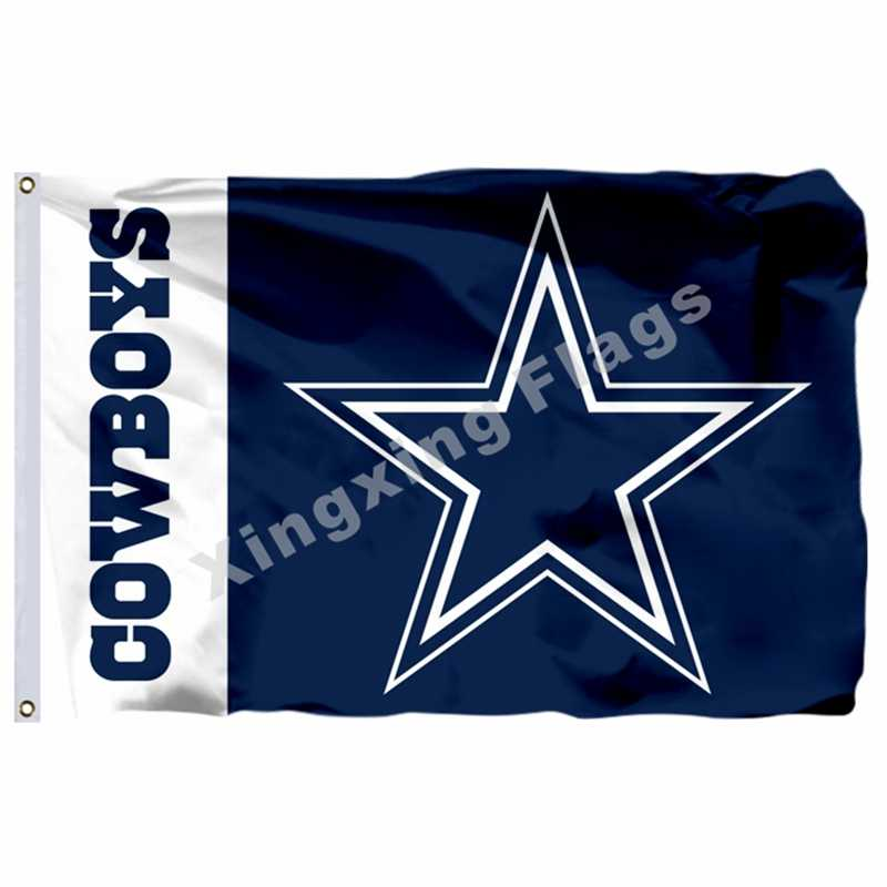 Dallas Cowboys Mit Dallas City Skyline Flagge 3ft X 5ft Polyester Dallas Cowboys Banne