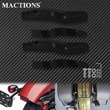 Motocicleta traseira turn signal extension bracket indicadores luz kit de deslocalização da placa de licença preto para harley softail fl 2000 20