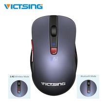 VicTsing 2.4G Wireless Mouse 6-Button DPI Adjustable Ergonomic Multi-Point Connections Bluetooth For Laptop/PC/Phone