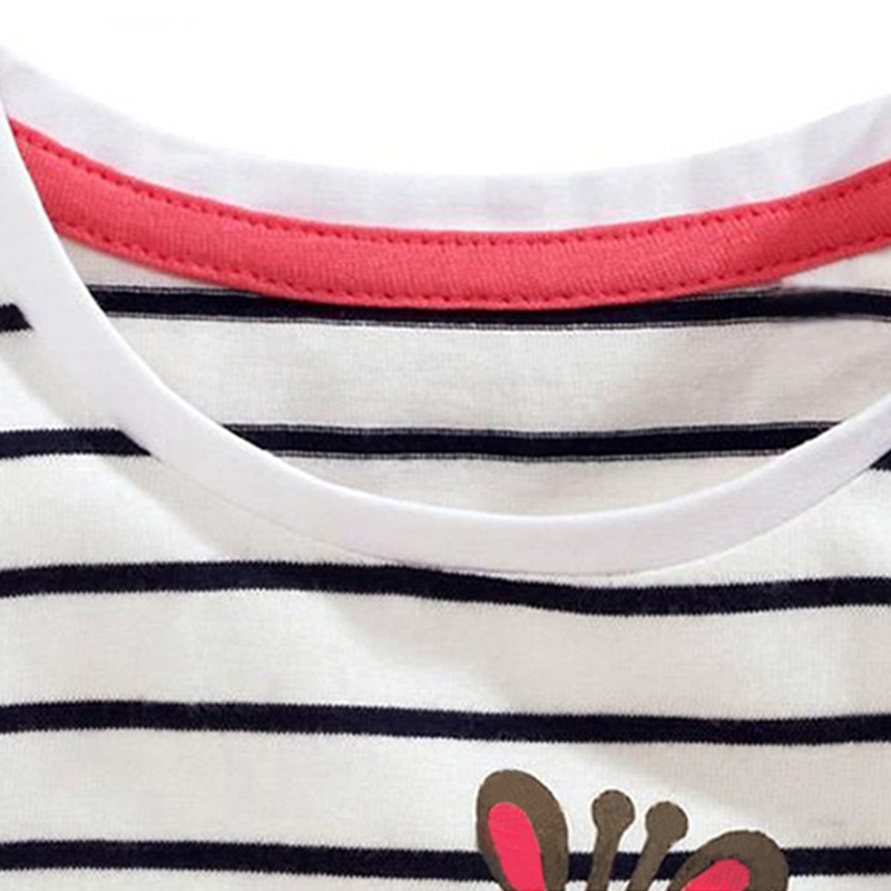 Kids Girl T Shirt Summer Baby Cotton Tops Toddler Tees Clothes Children Clothing Cartoon T-shirts Short Sleeve Casual Wear 6