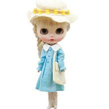 Blyth Doll Clothes Sunhat Shoulder Bag Stockings for Blyth Doll Baby Cute Dress Suit for 30cm 1/6 BJD ICY Doll Accessories(China)