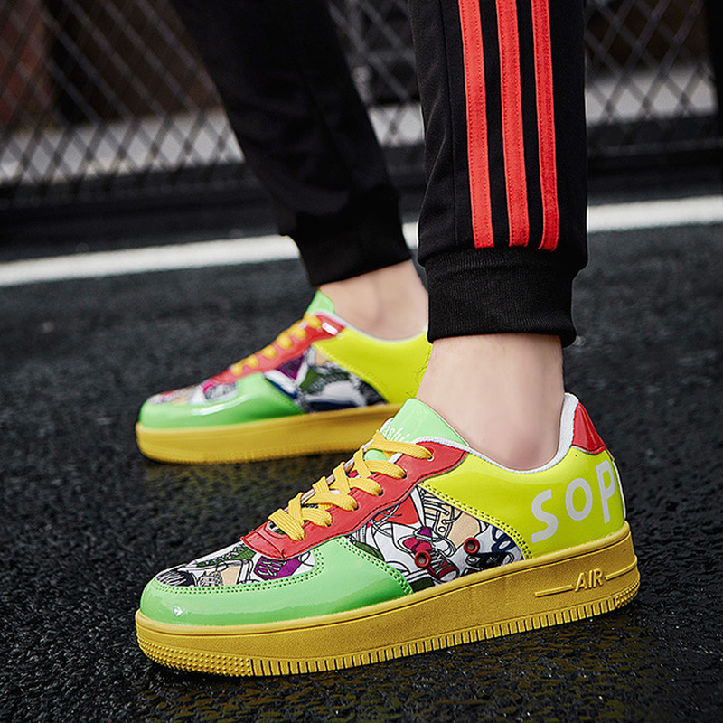2019 Air Couple Force One Sneakers For Men And Women Casual Skateboard Shoes Light Comfortable Slip-resistant Wear-resistant