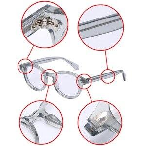 Image 4 - Round Handmade Acetate Frame Women Johnny Depp Glasses Men Brand Designer Computer Goggles Optical Spectacle frame Demi Myopia
