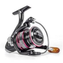 Рыболовная катушка LINNHUE 500-7000 для соленой воды, полностью металлические спиннинговые Катушки, максимальная нагрузка 8 кг, ручка из нержавеющ...