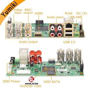 Image 2 - 5 ב 1 4CH/8CH/16CH AHD DVR מעקב אבטחת CCTV מקליט DVR 1080N היברידי DVR לוח עבור אנלוגי AHD CVI TVI IP