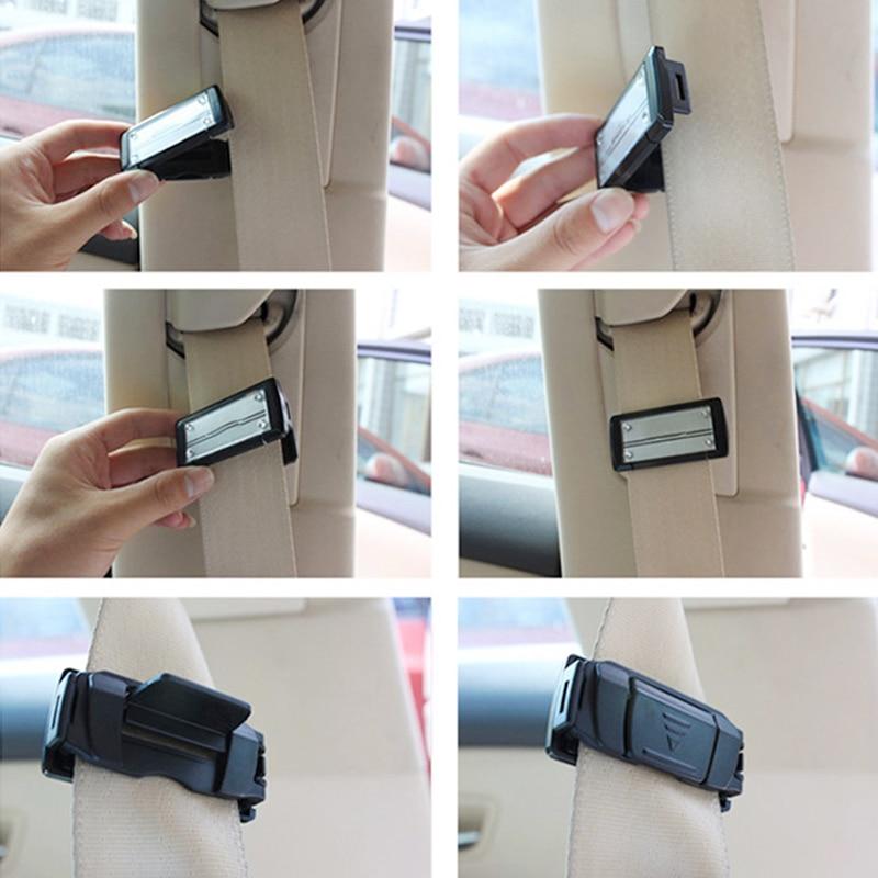 Support de ceintures de sécurité de voiture réglable, pince Portable pour véhicule, Clip, accessoires d'intérieur de voiture, 2 pièces