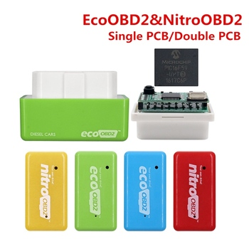Car EcoOBD2 Nitro obd2 for Benzine Petrol Gasoline Cars Eco OBD Diesel Nitro OBD2 Chip Tuning Box Plug&Driver 15% Fuel Save More image