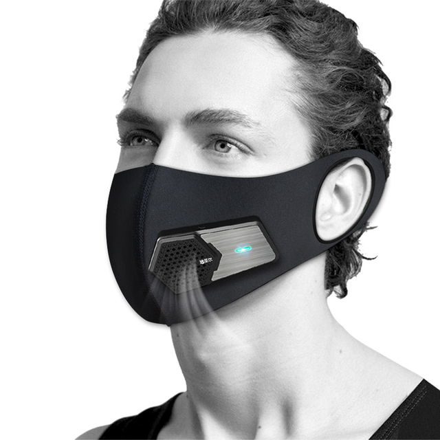 Air Purifying Smart Electric Face Mask With 3 Layer Filter Anti Dust Automatic Air Supply Electronic Face Mouth Mask Reuseable 1