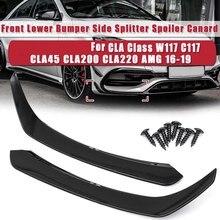 Spaoiler lateral inferior dianteiro do amortecedor do carro para mercedes-benz cla-classe w117 c117 cla45 cla200 cla220