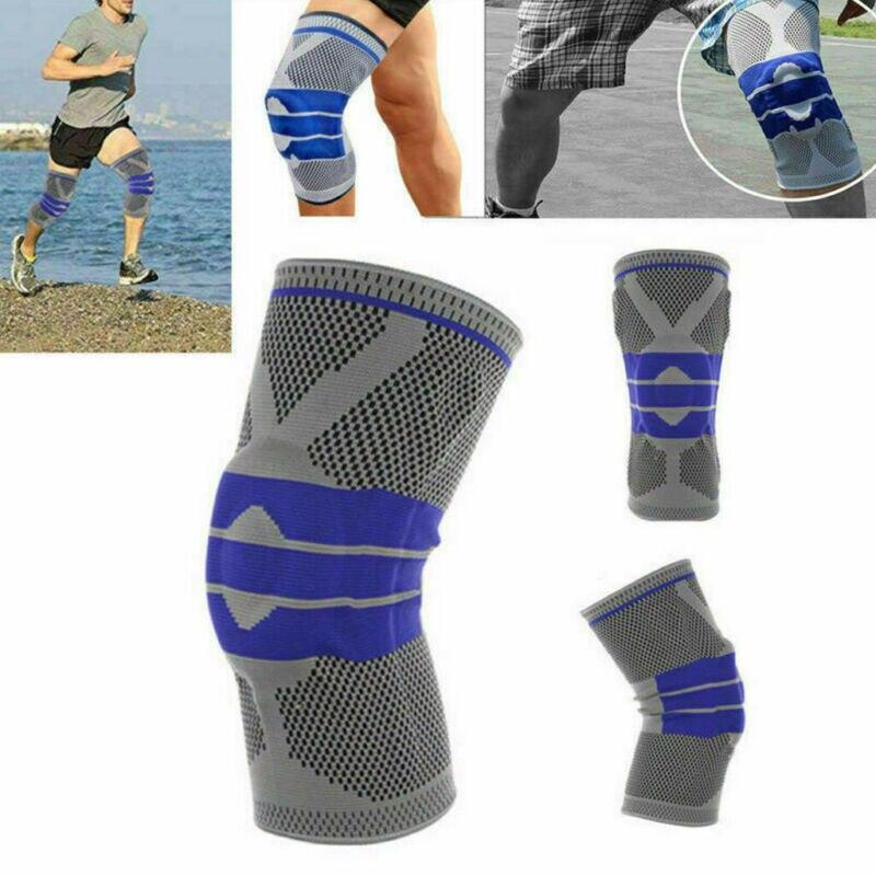 Hirigin Sports Knee Pads Knee Support Silicone Spring Knee Protector Brace Basketball Running Knee Pad Dance Kneepad Tactical