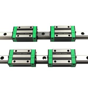 Image 3 - 2PCS HGR20 HGH20 כיכר ינארית מדריך Rail כל אורך + 4PCS שקופיות בלוק תובלה HGH20CA /Flang HGW20CC חלקי CNC נתב חריטה