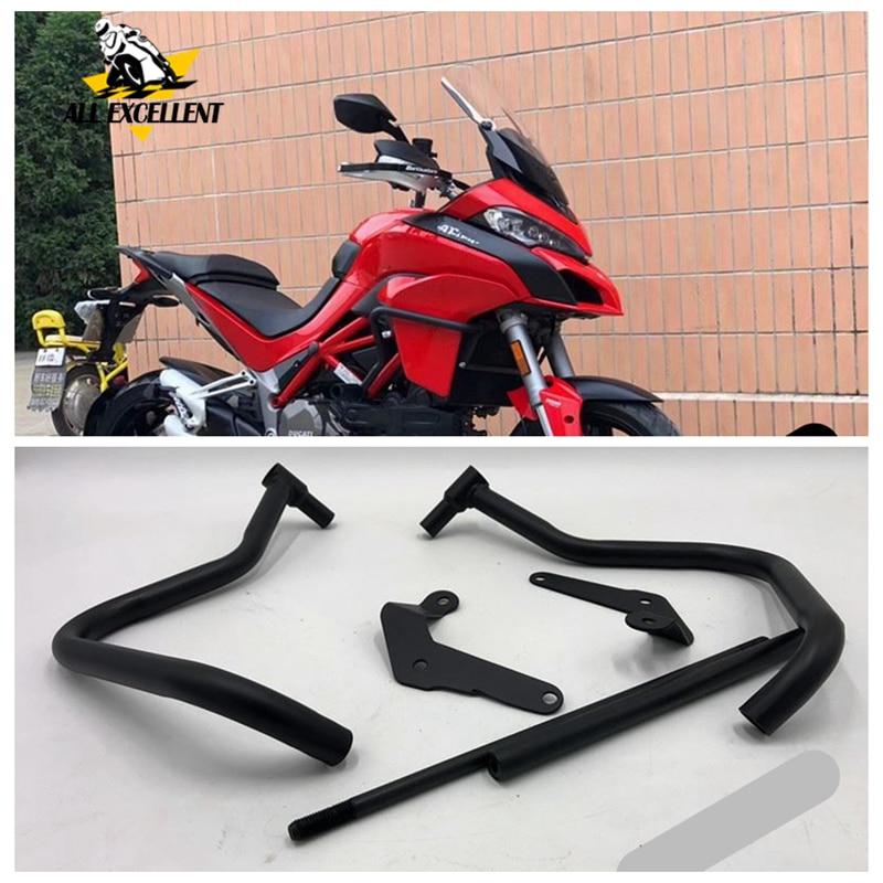 Phare avant noir pour moto   Barres dautoroute, protection contre les chocs, pour Ducati MTS1200S MTS 1200S