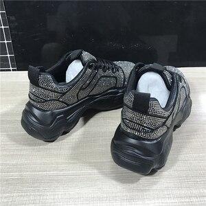 Image 5 - 2019 ฤดูใบไม้ร่วงแพลตฟอร์มคริสตัลรองเท้าผ้าใบผู้หญิงรองเท้าแฟชั่น Lace Up สุภาพสตรีรองเท้าผ้าใบรองเท้าผ้าใบ Blingbling Rhinestone รองเท้า