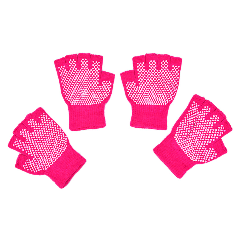 Yoga Gloves Fitness Lady Non-slip Professional Glove Sports Exercise Training Half Fingers Woman acrylic cotton Mittens