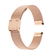 16mm Unisex Stainless Steel Watchband  Strap Metal Mesh Wrist Band