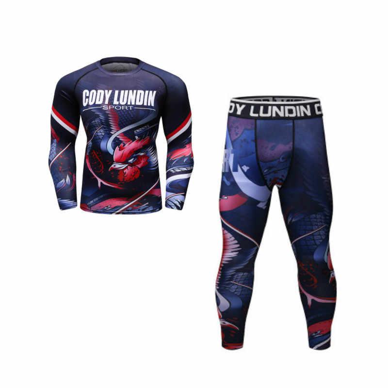 Alta qualidade masculino roupas esportivas de secagem rápida mma rashguard boxe terno bjj jiu jitsu muay thai ginásio fitness correndo boxe jerseys