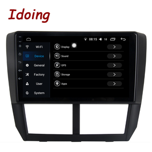 """Image 2 - Idoing 1Din 9""""Car Radio GPS Multimedia Player Android Auto For Subaru Forester 2008 2012 4G+64G Octa Core Navigation Head Unit"""
