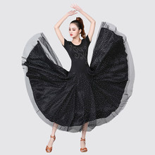 2020 femmes danse de salon Costume Flamenco danse robe moderne valse Tango Latin vêtements Dancewear 360 degrés surdimensionné jupe(China)