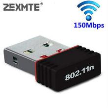 ZEXMTE Mini Drahtlose Netzwerk Karte 150Mbps USB WiFi Adapter für PC Laptop Unterstützung fenster 10 8 7 MAC 2,4 ghz wireless adapter