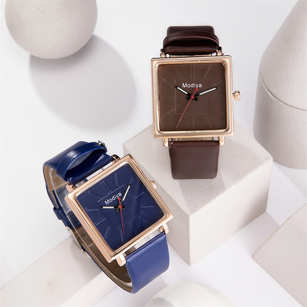 New Product Women Watches Square Scale Dial Ladies Fashion Quartz Wristwatch Leather Strap Clock  Casual Dress  Reloj Mujer @50