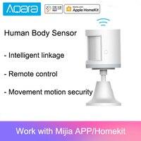 Sensor de intensidad de luz inteligente Xiaomi Aqara, Sensor de cuerpo humano para Xiaomi, accesorios para hogar inteligente, conexión Zigbee para Mi Home App