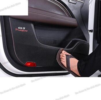 Lsrtw2017 Carbon Fiber Leather Car Door Anti-kick Mat Co-pilot Storage Box for Trumpchi Gs5 2012-2020 2013 2014 2015 2016 gac lsrtw2017 carbon fiber leather car co pilot storage box anti kick mat for chery tiggo 8 2018 2019 2020