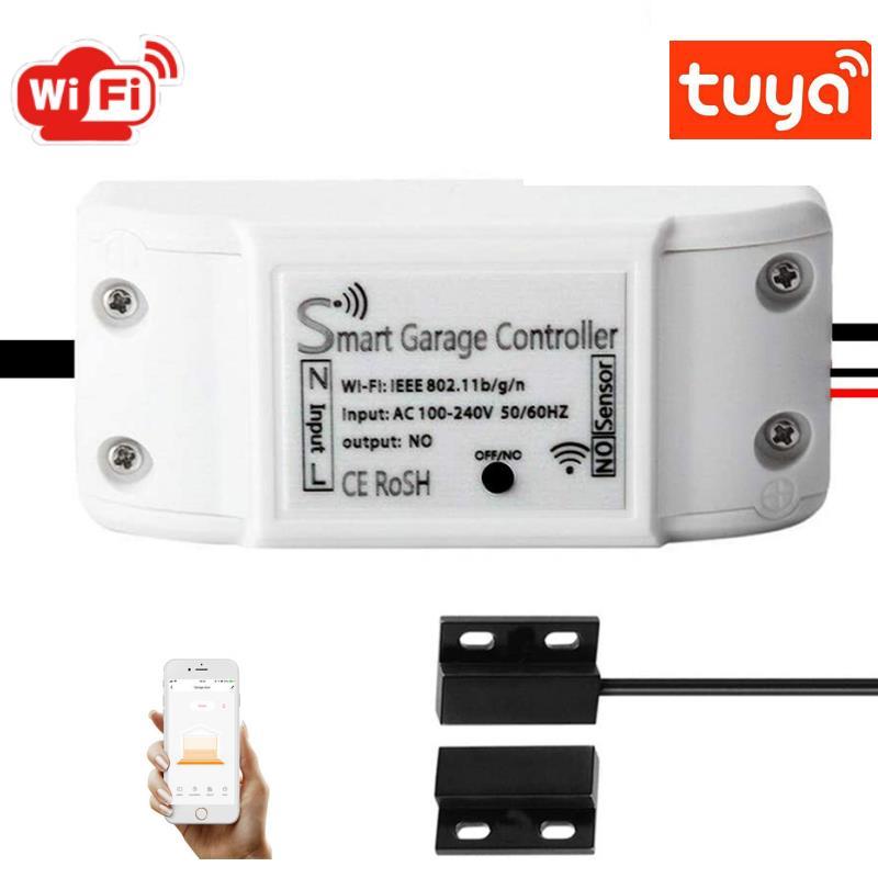 Wifi Smart Garage Door Opener Controller Switch Tuya/smart Life App Remote Control Smart Home Voice Works With Alexa Google Home