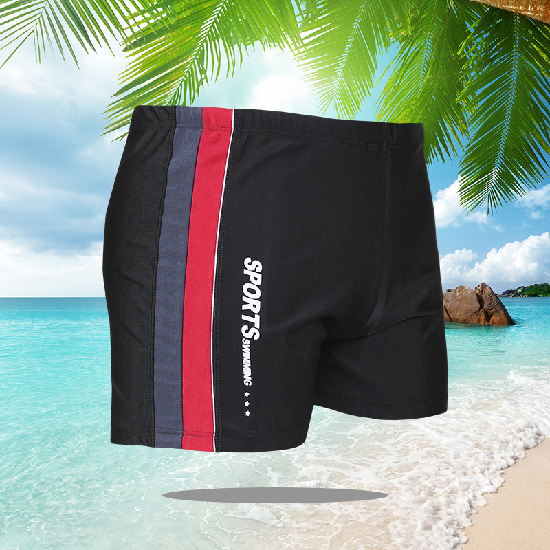 2019 New Style Large Size MEN'S Swimming Trunks Hot Selling Plus-sized And Tooth Pin Tiao MEN'S Swimming Trunks