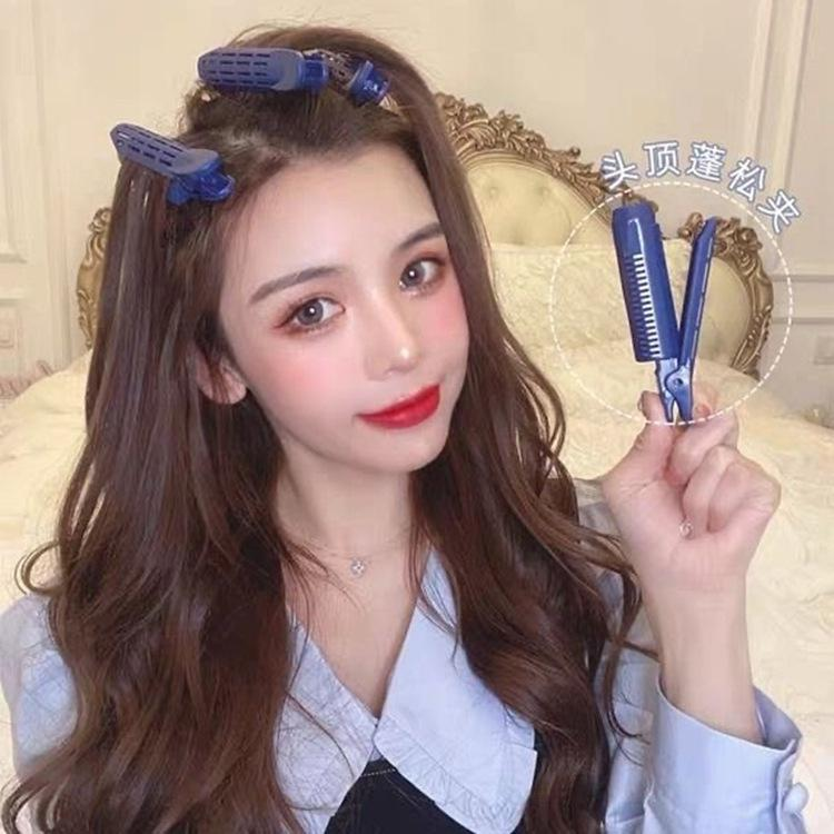 Natural Fluffy Hair Clip Curly Hair Plastic Hair Root Fluffy Clip Bangs Hair Styling Clip Candy Color Hairpins Hair Accessories