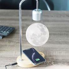 LED Moon Lamp Magnetic Levitation Lamp LED Night Light Floating Lamp LED Magnetic Light With Wireless Charging Novelty Lighting