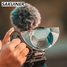 SAKUINER 58 62 67 72 77 82mm Hand Held Camera Accessories Lens Filter Photography Prism Film Nd UV for Nikon Canon Semicircle