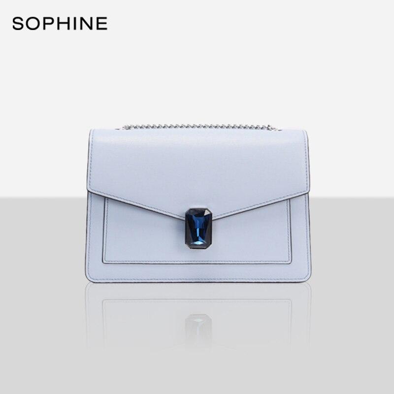 Fashion Designer Style Satchels Women Handbag Crossbody Flap Messenger Bags Diamonds Female Bag Cowhide Leather