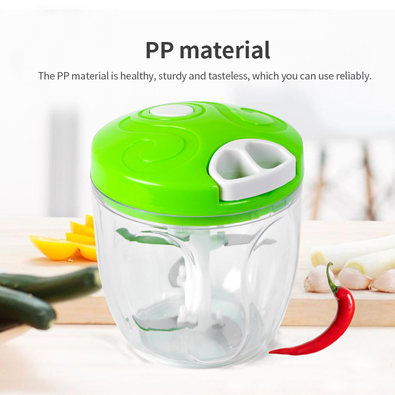 TINTON LIFE Manual Food Processor Chopper Blender Slicer Safe Durable Kitchen Household