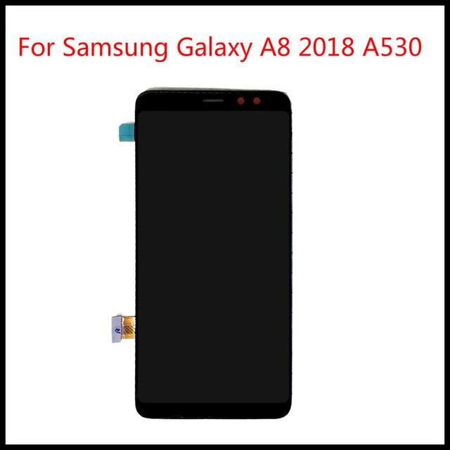 Para samsung galaxy a8 2018 a530 a530f a530ds a530n SM A530N lcd tela de toque digitador assembléia ferramentas gratuitas 100% testado