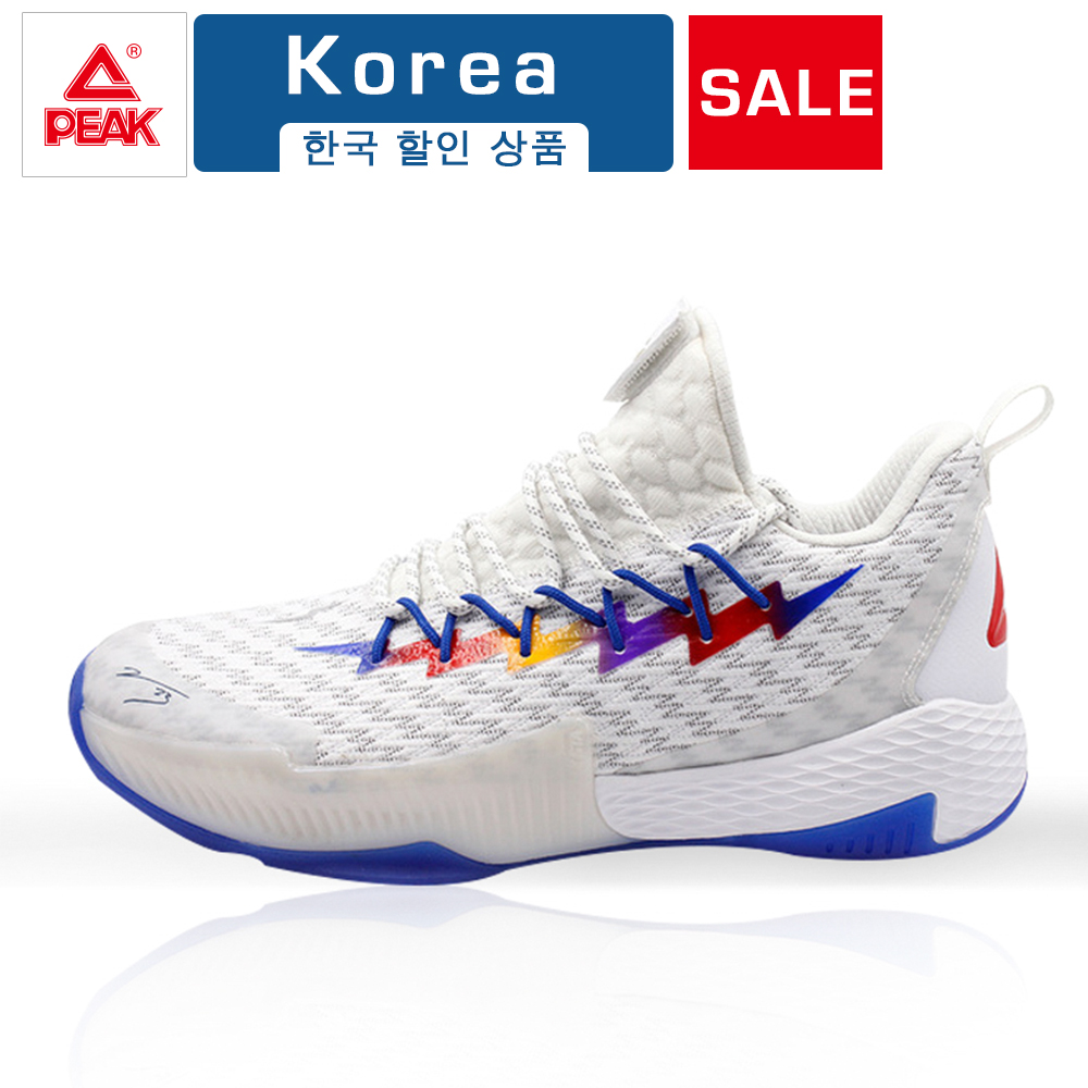 PEAK Men Lou Williams Lightning Men Streetball Master Basketball Shoes Breathable Anti-slip Wearable Gym Outdoor Sports Shoes