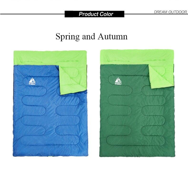 Splicable Duplo de algodão Sacos de Dormir