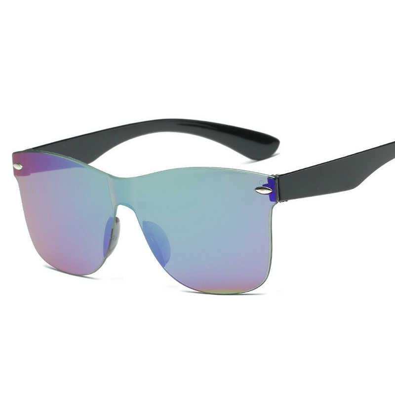 LeonLion 2019 Fashion jednoczęściowe kolorowe okulary przeciwsłoneczne damskie moda retro Rimless okulary przeciwsłoneczne damskie Vintage luksusowe markowe okulary