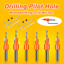 Drill-Bit Chamfering-Tool Countersink Timber Woodworking Pilot-Hole Plastic Round Shank