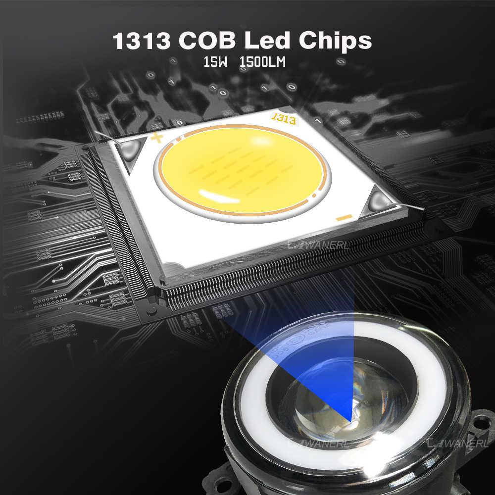 Cawanerl Dodge Promaster 1500 2500 3500 araba 30W 3000LM LED sis işık melek göz DRL gündüz farı 12V yüksek parlak