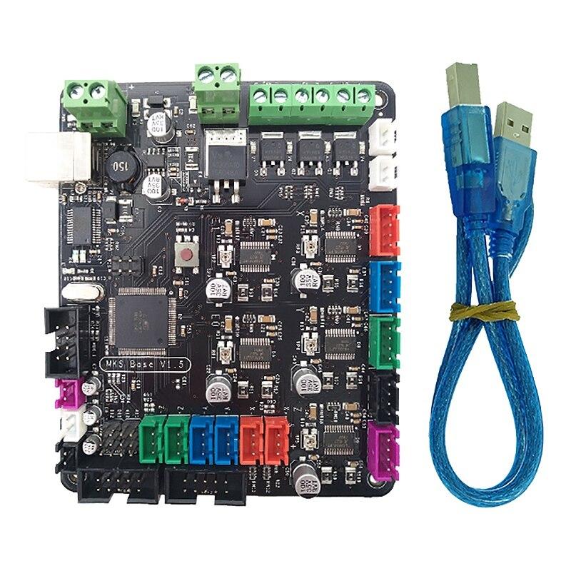 Makerbase imprimante 3D carte principale MKS BASE V1.6 carte mère intégrée Compatible Mega 2560 & rampes 1.4 carte de contrôle RepRap Mende