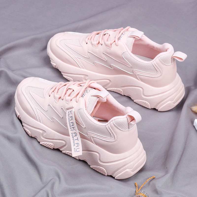 New Sneakers Shoes Lace Up Tenis Designers Ladies Shoes Spring Women Casual Shoes Chunky White Shoes Woman 2020 Chaussures Femme