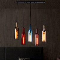 Bottle chandelier LED chandelier creative chandelier bar pub restaurant home Christmas decoration 5-color night light LB121919
